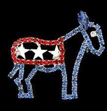 Biden/Harris 2020 Democratic Donkey Rhinestone Brooch/Pin ( red, white, and blue