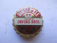 CROWN SEAL BOTTLE CAP GINGER ALE BOTTLED by TRISTRAMS for ORFORD BROS QLD AUST