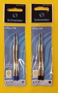 Schneider Kugelschreibermine M Großraummine Parkersystem 2er Pack blau / schwarz