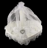 Grande Corbeille Coeur Panier Blanc à Dragées Cadeaux Mariage...