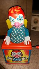 Vintage 1971 Working Mattel Jack in the Music Box with Clown Good Condition