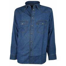 da 3xl a 7xl camicia jeans sea barrier 4xl 5xl 6xl taglie forti uomo