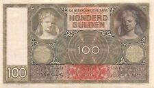Niederlande 100 Gulden 1942 Banknote Serie HR