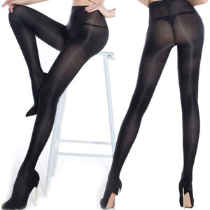 Lady Satin Touch Tights Glossy Shiny Pantyhose Dancing Shaping Stockings Sz S-XL