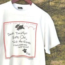 Vtg Funny Toto Wizard of Oz Dog Hate Oz, Took The Shoes Tee - Size Men's Large