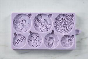 Karen Davies Christmas Baubles NEW Sugarcraft Mould