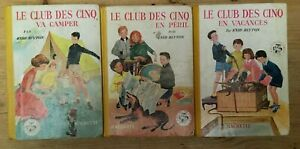 Lot 3 Club des Cinq Hachette EO dos toilé jaune