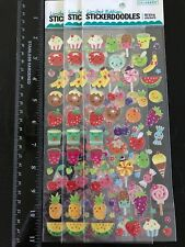 Lot of 3~Colorbok~Limited Edition Stickerdoodles Bling Stickers