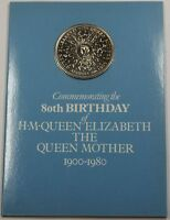 1980 80th Birthday of the Queen Mother Commemorative Crown Coin