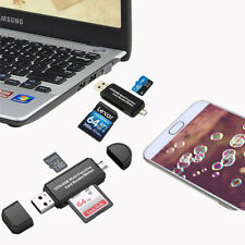 New Micro USB OTG to USB 2.0 Adapter SD/Micro SD/Card Reader with Standard USB