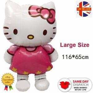 Hello Kitty Giant Foil Balloons Birthday Party Kids Iinflatable 116x65cm