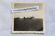ALTES FOTO WW2 MILITÄR LUFTWAFFE FLUGZEUG FLIEGER KENNUNG EK FLUGPLATZ UM 1940