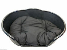 Extra Large XL Plastic BLACK Dog Pet Bed With BLACK cushion, basket