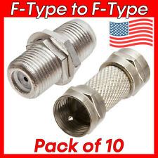 10 Pack F Type Coupler Coax Coaxial F-Type Cable Adapter Screw Connector M/M F/F