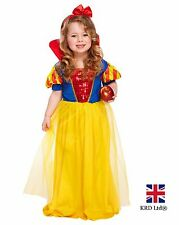 SNOW WHITE TODDLER Fancy Dress Costume Kids Girls Halloween Disney Princess UK