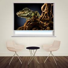 Digital Print Photo Roller Blind Lizard close up Animal Blackout Window Blind