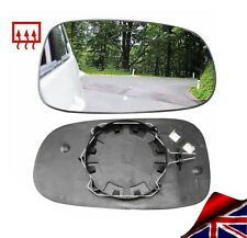 Wing mirror glass SAAB 9-3 93 2003-10 Chauffé Droit Convexe Driver Offside Clip on