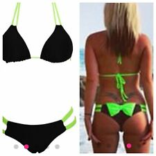 New HALTERNECK Tie Bow Bandage Bikini Set Swimsuit sizes Available 6-8