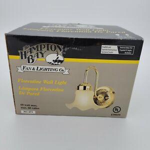 Hampton Bay Lighting Florentine Gold Brass Wall Light Fixture E99059 NEW IN BOX