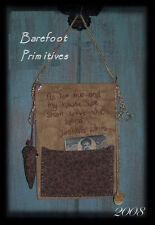 Primitive Early Sewing Book Joshua 24:15 scripture Paper Patten