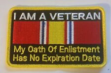 """US Military Patch  """"I AM A VETERAN""""  4"""" x 2.5""""  Iron / Sew-on patch"""