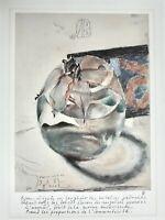 """Horst Janssen (1929-1995) Offsett-Lithographie """"Keiner weiss es 3.3.82 zu Basel"""""""