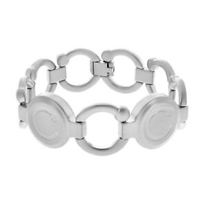 Bioflow Pirouette Magnetic Bracelet Brushed Silver Unisex Arthritis Magnotherapy