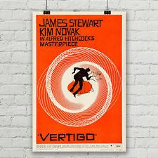 Vertigo Alfred Hitchcock Movie Poster Canvas Art Print