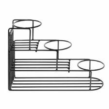 Display Rack For Bottles 3 Step Black Metal Wire -13 1/2 L x 4