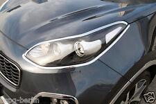 Accessoires pour Kia Sportage 2016-2018 Chrome Phares Cadre Cadre de Phare