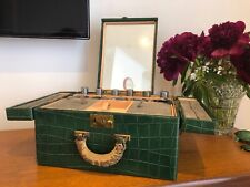 Very Nice Vintage 1950s Elizabeth Arden Travel Case In Moc Croc Leather Rare