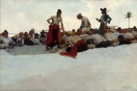 Howard Pyle So The Treasure Was Divided Giclee Canvas Print Paintings Poster