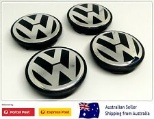 4x 65mm VW Volkswagen CENTER HUB CAPS GOLF POLO PASSAT JETTA GTI TDI ETC NEW
