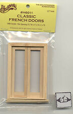 Half Scale 1:24 Door  Double Frence  Dollhouse H6011 wooden miniature Houseworks