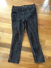 SONOMA Womens SIZE 10 STRAIGHT Mid-Rise BLACK Denim JEANS