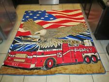 Fdny Plush Queen Size Blanket Throw by Dolphin Super Quality Fireman Responder