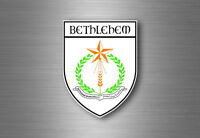 Sticker decal souvenir car coat of arms shield city flag bethlehem israel