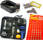 Watchmaker Watch Repair Tool Kit Back Case Opener Remover Spring Pin Set & cell