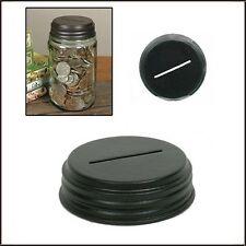 Metal MASON JAR Piggy Bank COIN LID CAP Primitive Country Home Decor