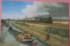 "Great Western Railway #2902 GWR & ""Little Marvel"" Barge UK NEW Train Postcard"