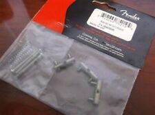 NEW - Genuine Fender Vintage '62 Tele Threaded Bridge Saddle Set, 005-6038-049