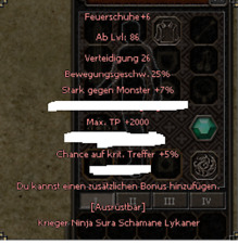 Metin2 Teutonia Feuerschuhe+6 2k TP 5 Kritt