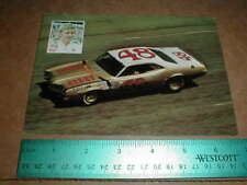James Hylton 1972-1973 Ford Mercury vtg old nascar auto racing handout Postcard