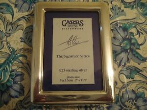 """Finely Crafted CARRS UK: """"The Signature Series"""" Sterling Silver Mini Photo Frame"""