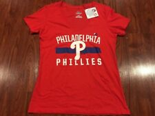 Majestic Women Philadelphia Phillies V Neck Jersey Shirt Medium M Baseball MLB