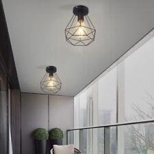 Vintage Industrial Rustic Flush Mount Ceiling Light Metal Pendant Lighting Lamp