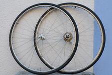 vintage Rennrad tubular Laufradsatz Mavic monthlery legere Super Record Naben