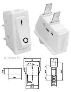 Wippschalter weiß 18x27x10mm Wippenschalter EIN-AUS Schalter Einschalter #83