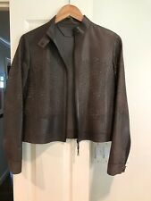 Elie Tahari Brown Leather Jacket - Size Small (S)