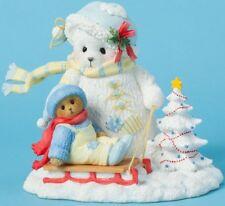 BIN Cherished Teddies BEAR & SNOWBEAR & SLED Christmas Figurine NIB